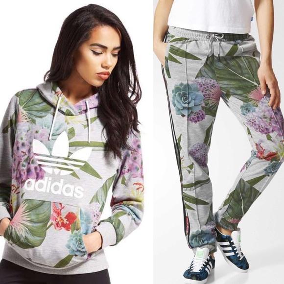 f6fa3896e11 adidas Tops | 2 Piece Originals Floral Tracksuit Set | Poshmark